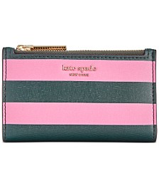 kate sapde new york Sylvia Stripe Small Slim Bifold Wallet