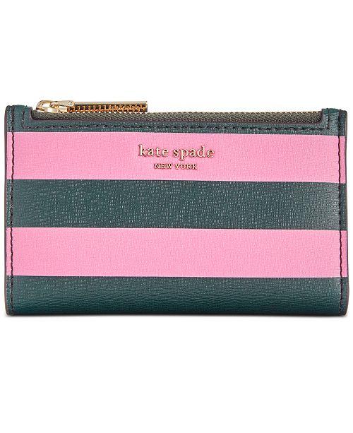 kate spade new york kate sapde new york Sylvia Stripe Small Slim Bifold Wallet