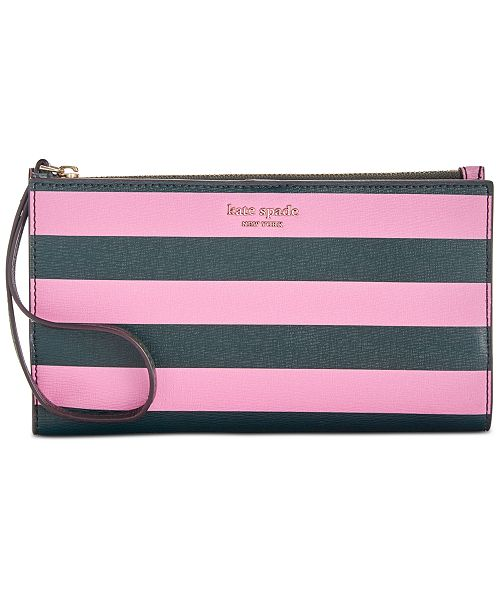 kate spade new york Sylvia Stripe Large Continental Wristlet