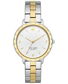 kate spade new york Women's Morningside Two-Tone Stainless Steel Bracelet Watch 38mm
