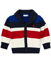 ad5fb4682 Polo Ralph Lauren Baby Boys Striped Shawl Cardigan
