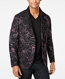 INC Men's Scribbled Slim-Fit Blazer, Created for Macy's