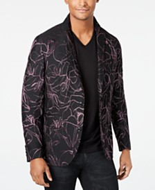 I.N.C. Men's Scribbled Slim-Fit Blazer, Created for Macy's