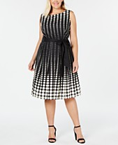 e4ee88af6db Anne Klein Plus Size Cotton Printed Fit   Flare Dress