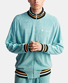 Men's C-Life Terry Varsity-Stripe Warm-Up Jacket