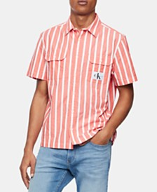 Calvin Klein Jeans Men's Stripe Shirt