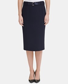 Tommy Hilfiger Belted Pencil Skirt, Created for Macy's