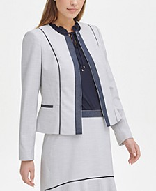 Contrast-Trim Moto Jacket, Created for Macy's