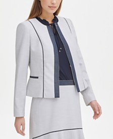 Tommy Hilfiger Contrast-Trim Moto Jacket, Created for Macy's