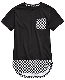 Univibe Big Boys Conner Pieced Checkerboard Pocket T-Shirt