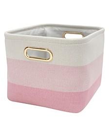 Pink Ombre Storage Bin/Basket