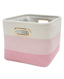 Lambs & Ivy Pink Ombre Storage Bin/Basket