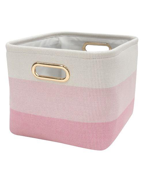 Lambs & Ivy Pink Ombre Storage Bin/Basket