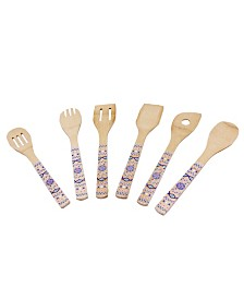 BergHOFF Patterned Bamboo 6-Pc. Utensil Set