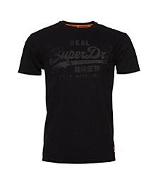 Vintage-Like Logo Box Fit Applique T-Shirt