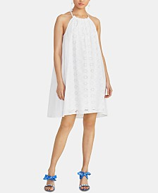 RACHEL Rachel Roy Sabine Cotton Eyelet Swing Dress