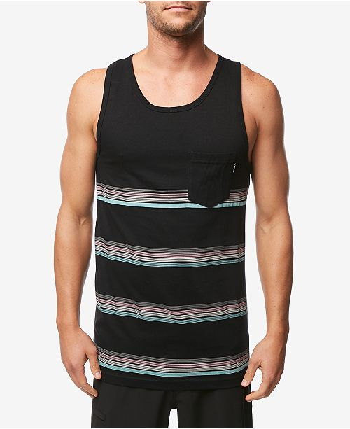 O'Neill Men's Slim-Fit Striped Pocket Tank