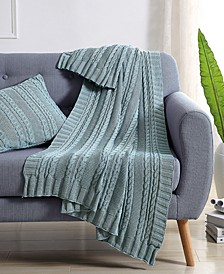 Dublin Cable Knit Throw Blanket