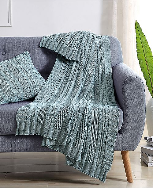 VCNY Home Dublin Cable Knit 50x70 Throw Blanket