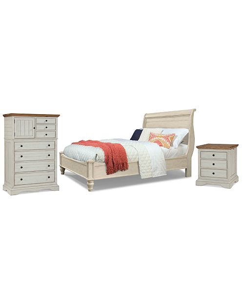 Furniture Cottage Solid Wood Bedroom Furniture, 3-Pc. Set (King, Nightstand & Chest)