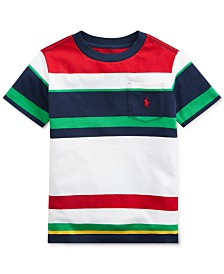Polo Ralph Lauren Toddler Boys Striped Cotton T-Shirt