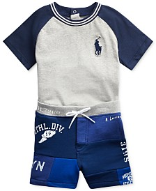 Polo Ralph Lauren Baby Boys Graphic T-Shirt & Shorts Set