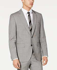 HUGO Hugo Boss Men's Slim-Fit Light Gray Crosshatch Suit Jacket