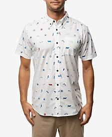 Men's Backyard BBQ Short Sleeve Woven Shirt