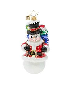 Surprise Santa Snowman!