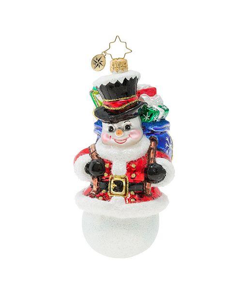 Christopher Radko Surprise Santa Snowman!