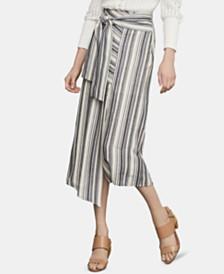 BCBGMAXAZRIA Striped Midi Skirt