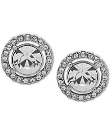 Givenchy Crystal Halo Button Earrings
