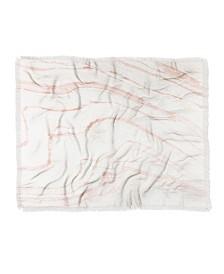 Rebecca Allen Blush Marble Woven Throw Blanket