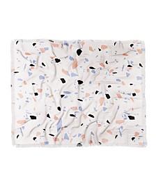 Emanuela Carratoni Sweet Terrazzo Texture Throw Blanket