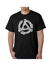 LA Pop Art Mens Word Art T-Shirt - Record Adapter