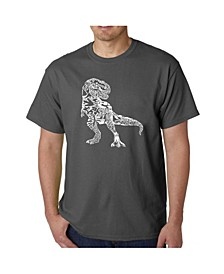 Mens Word Art T-Shirt - Dinosaur