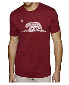Mens Premium Blend Word Art T-Shirt - California Bear