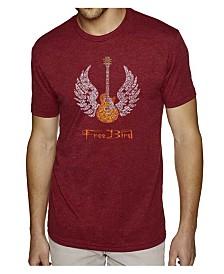 LA Pop Art Mens Premium Blend Word Art T-Shirt - Lyrics to Freebird