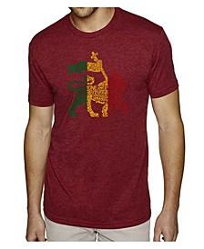 Mens Premium Blend Word Art T-Shirt, One Love