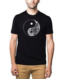 LA Pop Art Mens Premium Blend Word Art T-Shirt - Yin Yang