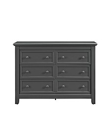 Baby Relax Milli 6-Drawer Dresser with Topper