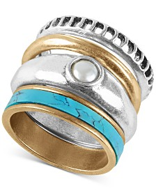 Lucky Brand Two-Tone 4-Pc. Set Stackable Rings