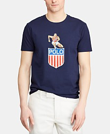 Polo Ralph Lauren Men's Big & Tall Classic-Fit Chariots Graphic T-Shirt