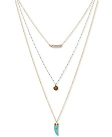 "Lucky Brand Gold-Tone 30"" Multi-Row Necklace"