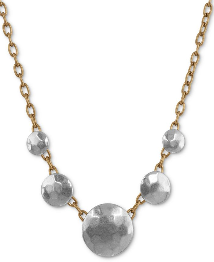 Lucky Brand - Two-Tone Coin Collar Necklace