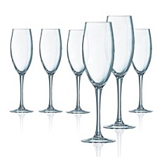 Grand Vin Flute Glass - Set of 6