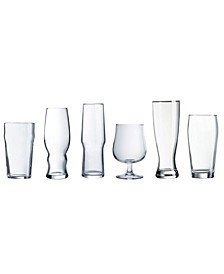 Craft Brew Assorted Beer Glass 6PC Set