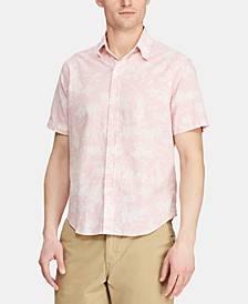Men's Classic-Fit Hawaiian Camp Collar Shirt