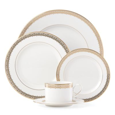 Lace Couture Gold Salad Plate
