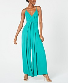 Strappy Split-Leg Jumpsuit